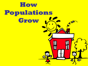 How Populations Grow - Brookwood High School