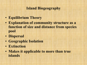 Island Biogeography: Species Richness