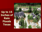 Up to 15 Inches of Rain Floods Texas