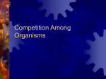 Competition Among Organisms