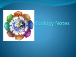 Ecology Notes - Jessamine County Schools