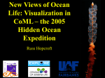 New Views of Ocean Life: Visualization in CoML