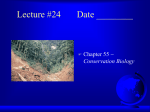 Lecture #24 Date - Biology Junction