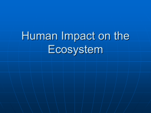Human Impact on the Ecosystem - ABC