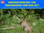 Biodiversity - Endangered Species Act Lecture Notes Page
