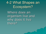 19-2 Ecology of Organisms