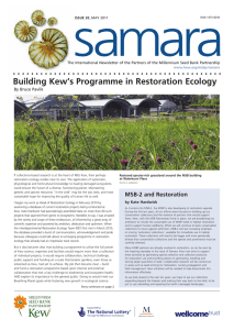 samara Building Kew's Programme in Restoration Ecology By Bruce Pavlik