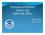 Overview of NOAA's Role in the DWH OIL SPILL Buck Sutter