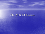 Ch 23 & 24 Review answers