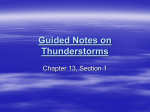 Guided Notes on Thunderstorms