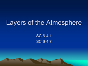 Layers of the Atmosphere - Fairfield Public Schools