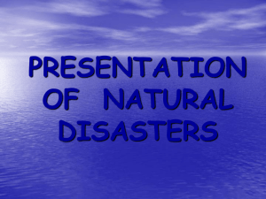 PRESENTATION OF NATURAL DISASTERS