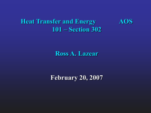 Heat Transfer and Energy