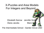 X-Puzzles and Area Models For Integers and Beyond…