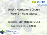 Commercial Horticulture Production Week 1 Plant Science