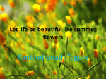 Let life be beautiful like summer flowers