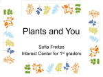 Plants and You - EDU604InstructionalStrategies