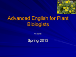 Advanced English for Plant Biologists