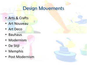 Design Movements (NEW!)