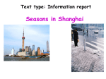 Seasons in Shanghai