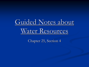 Guided Notes about Water Resources