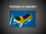 List of the Swedish festivities (ppt.file)