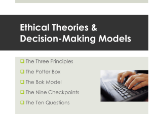 Ethical Theories Power Point