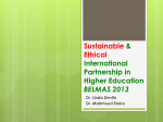 Sustainable & Ethical International Partnership in Higher Education