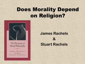 Does Morality Depend on Religion? - James Rachels