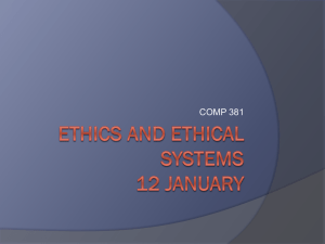 Ethics and Ethical Systems
