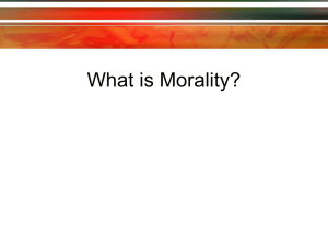 What is Morality --