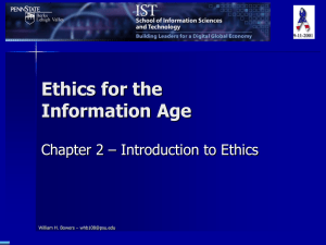 Ethics for the Information Age - Chapter 2