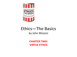 Ethics—The Basics by John Mizzoni