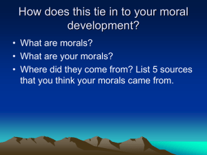 Moral Development in Adolescents
