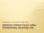 American foreign policy (UMSL) international relations (HW)