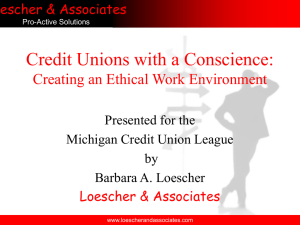Credit Union Fraud & Ethics