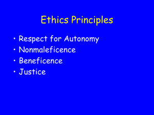 Ethics Principles