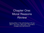 Chapter One: Moral Reasons