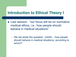 Introduction to Ethical Theory II