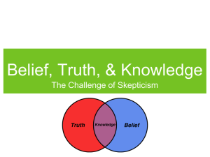 Belief, Truth, & Knowledge