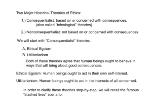 Consequentialist Theories
