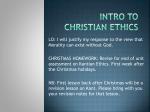 Intro to Christian Ethics