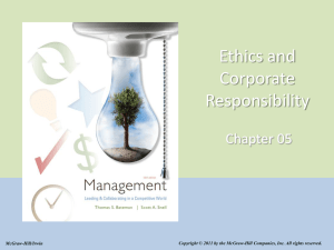 Ethics and Corporate Responsibility