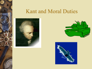 Kant and Moral Duties