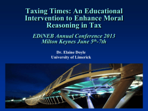 Enhancing moral reasoning in tax: An educational