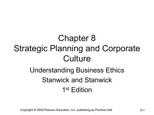 Strategic Planning and Corporate Culture