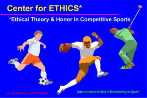 Introduction to Moral Reasoning in Sport