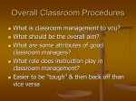 Overall Classroom Procedures