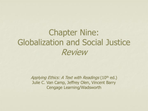 Chapter Nine: Welfare and Social Justice