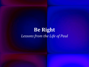 Be Right - The Good Teacher